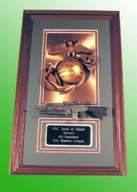 Marine corps copper plaque