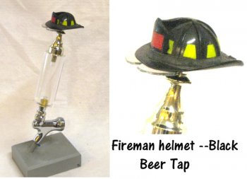 Fire dept helmet as beer tap (Black)