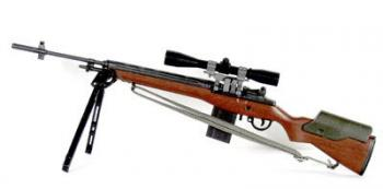 M-14 sniper rifle w/bipod and std scope