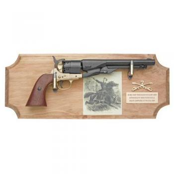 George Custer six shooter ( framed ) metal