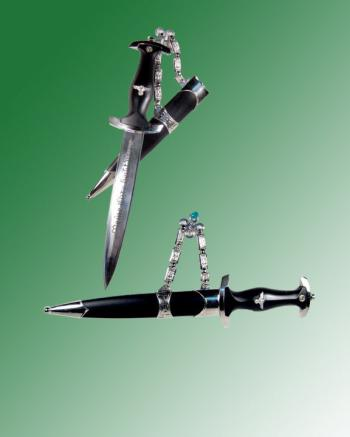 German dress uniform dagger with chain