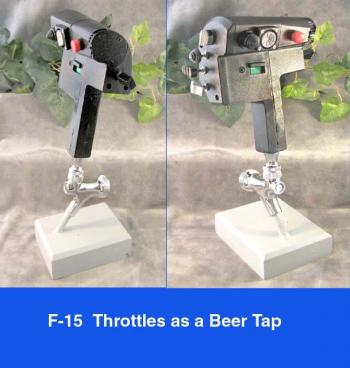 F-15 Throttles as Beer Tap