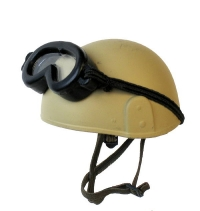 Modern British Army MK 6 helmet with goggles