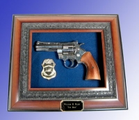 357 Magnum pistol shadow box