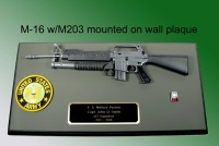 M-16 with M203 launcher wall plaque