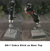 AH-1 Cobra helicopter stickgrip as Beer Tap