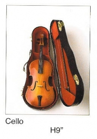 "Miniature Musical Instruments - Cello 9"" tall"