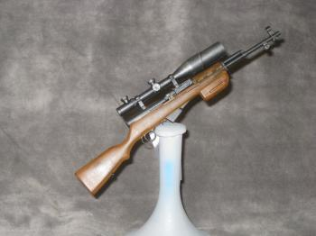 Russian SKS with night scope