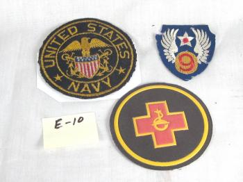 Assosrted military patches
