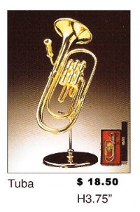 Miniature Musical Instruments - Tuba