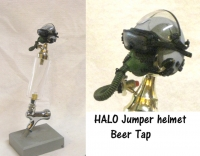 HALO Jumper helmet as beer tap
