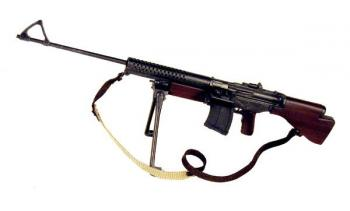 U.S. Johnson machine gun