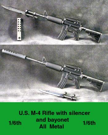 1/6 th M-14 with silencer & Bayonet all metal