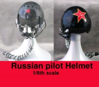 Russian pilot helmet 1/6th Black