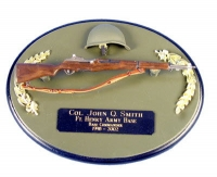 U.S. M1 Garand Rifle on painted wood plaque