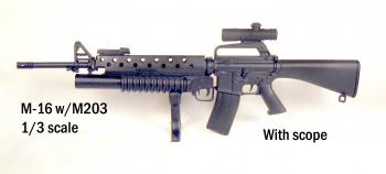 M-16 w/M203 launcher and scope 1/3 scale