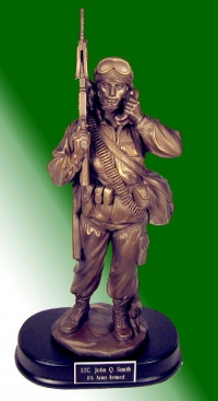 Statue of soldier on the radio