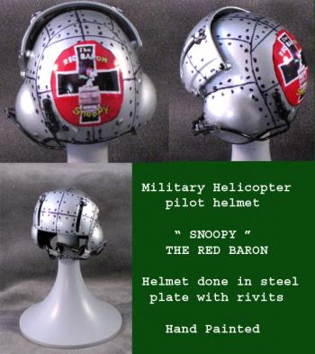Helicopter Helmet ( Snoopy Red Baron) STL plate