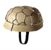 Paratrooper tan helmet with wire cage