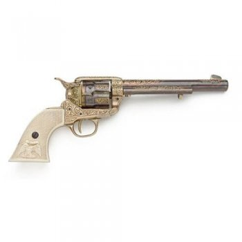 Old West pistol ( gold engraving)