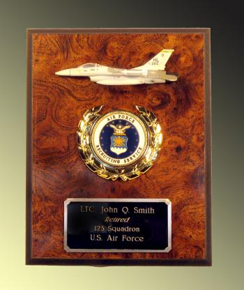 USAF F-16 Recruiter plaque