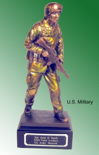 Military soldier standing