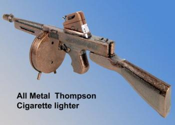 Thompson SMG cigarette lighter presentation