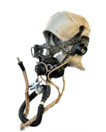 Fighter pilot helmet and mask
