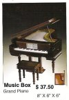 Miniature grand piano ( Brown ) music box