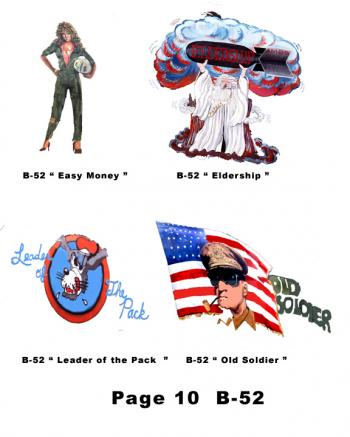 B-52 Nose Art for helmets page 10
