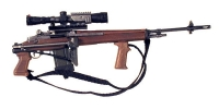 U.S. M-14 W/sniper scope and commando stock