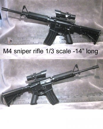 1/3 scale M4 sniper rifle with scope