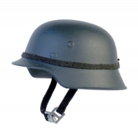 helmet gray/green with single band