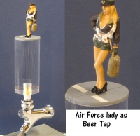 Air Force lady as beer tap
