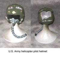 U.S.Army pilot helmet with oxy mask