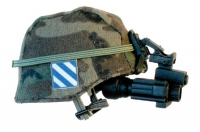 U.S. Army 3rd Army Div helmet w / night scope