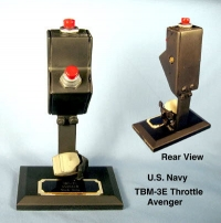 Airplane throttle for U.S.Navy TBM-3E Avenger