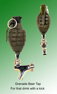 Grenade as beer tap handle