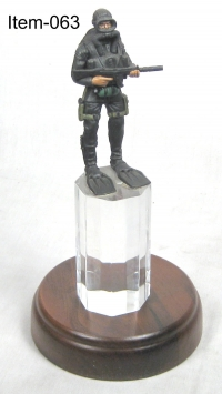 U.S.Navy SEAL on acrylic base