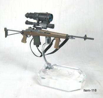 M-14 Commando sniper rifle with night vision