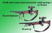 M-60E scope and Harris bipod with metal springs
