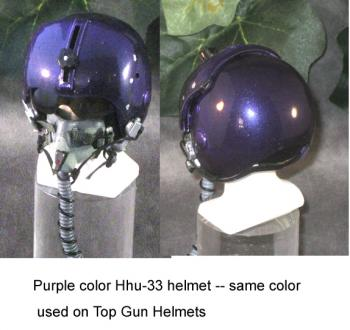 US Navy (purple ) pilot helmet