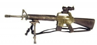 M16A2 with tricon scope and foldable bipod