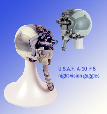 U.S.A.F. A-10 helmet with night vision