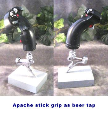 Apache AH-64D Stick grip as beer tap