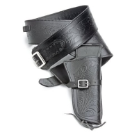 Single tooled Black western holster