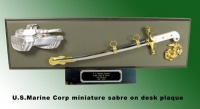 U.S.Marine Corp miniature Sword plaque