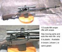 M-14 with scope Assembled