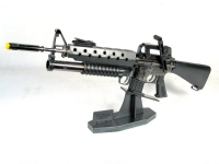 "U.S. M-16 w/m203 on stand (Metal 13"" long) has working parts.(Very limited quanity)"