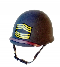Msgt stripes on helmet WW2